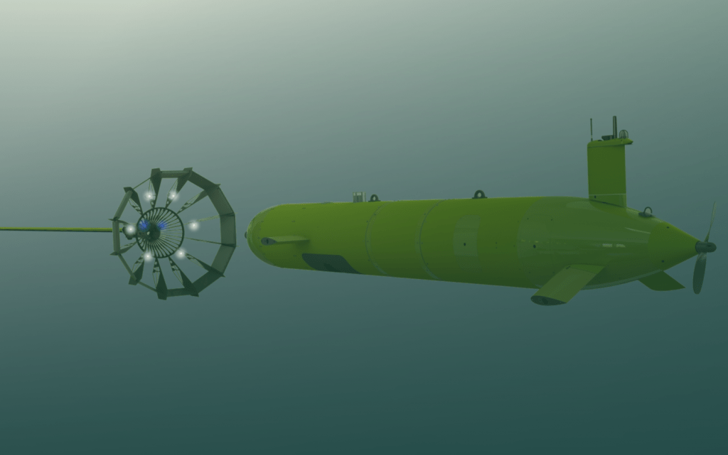 AUV docking with Autonomous dock render